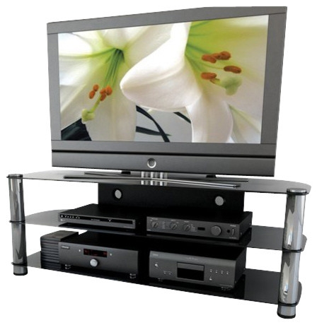 Impressive Top Contemporary Glass TV Stands Regarding Sonax Metal And Glass Tv Stand For Up To 65 Tvs Entertainment (Image 23 of 50)