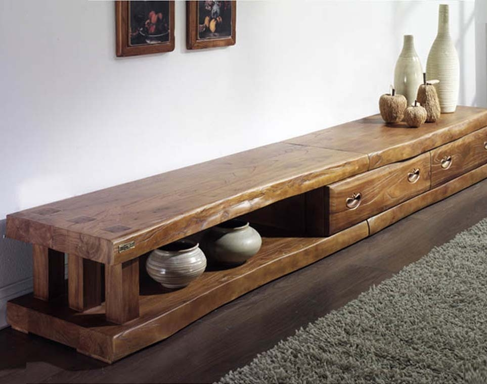 Impressive Top Long TV Stands Furniture Pertaining To Korea Authentic Old Elm Long Tv Cabinet Solid Wood Antique (Image 30 of 50)