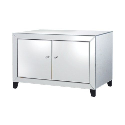 Impressive Top Mirrored TV Stands Pertaining To Reflections Mirrored Tv Stand 39161 With Free Delivery (View 9 of 50)
