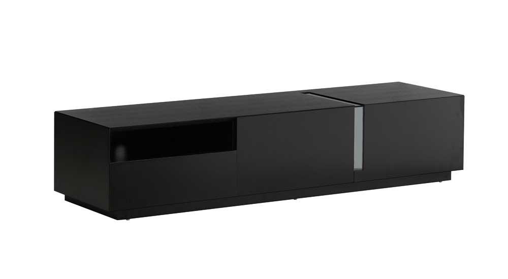 Impressive Top Modern Black TV Stands Regarding Eidos Black High Gloss Modern Tv Stands Contemporary Tv Stands (View 17 of 50)
