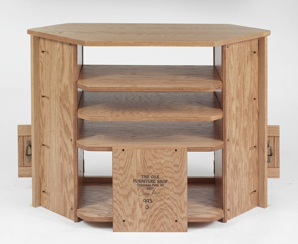Impressive Top Oak TV Cabinets Intended For Solid Oak Mission Style Corner Tv Cabinet 41 The Oak (Image 25 of 50)