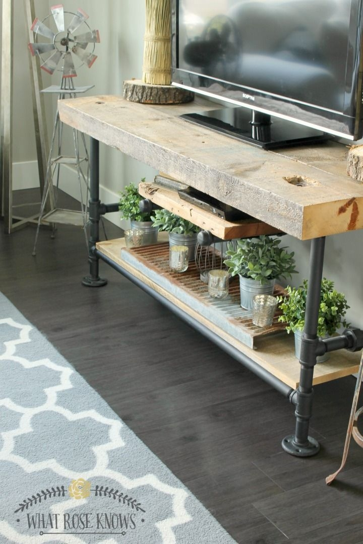 Impressive Top Reclaimed Wood And Metal TV Stands For Best 25 Diy Tv Stand Ideas On Pinterest Restoring Furniture (Image 28 of 50)