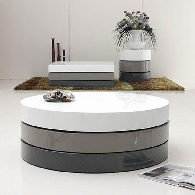 Impressive Top Round Storage Coffee Tables With Regard To Hidden Storage Coffee Table Cute Of Round Coffee Table With Metal (View 48 of 50)