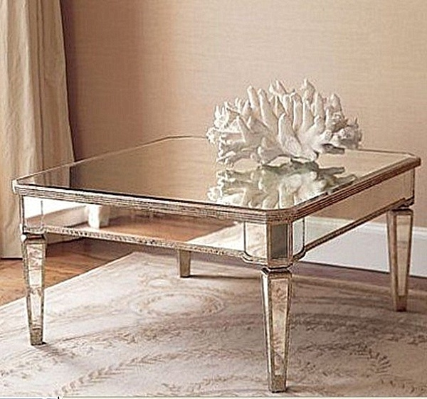 Low Square Mirrored Coffee Table: 50 Best Small Mirrored Coffee Tables