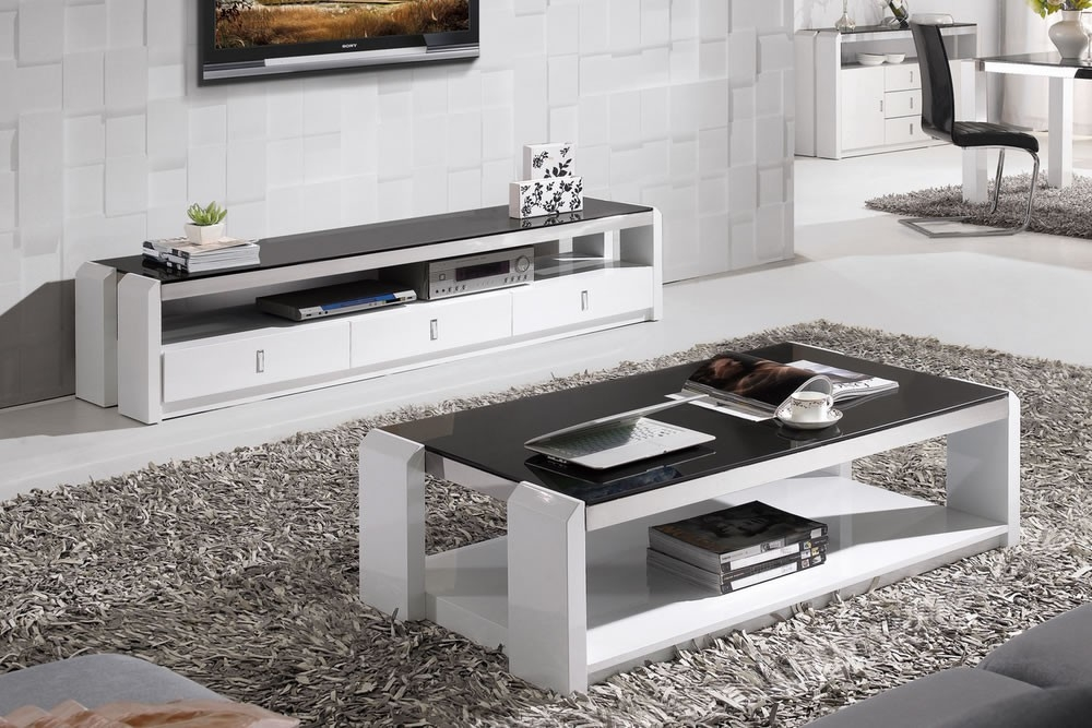 Impressive Top White And Black TV Stands Regarding Tv Stands Glamorous White High Gloss Tv Stand 2017 Design White (Image 29 of 50)