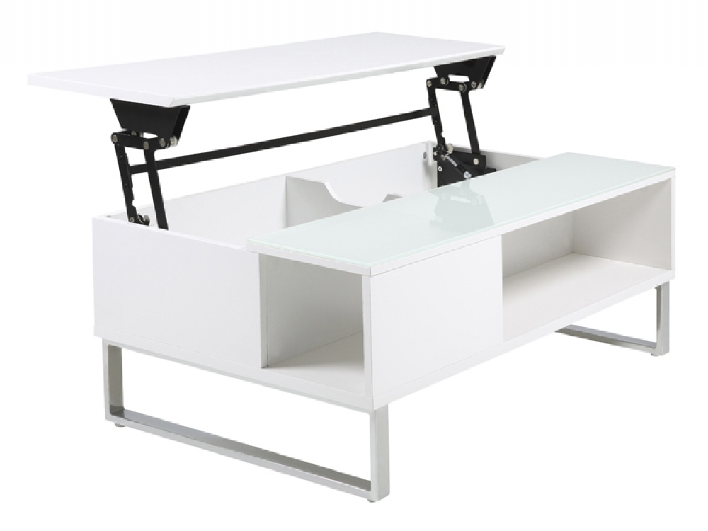 Impressive Top White Coffee Tables With Storage Inside White Coffee Table With Storage Teasing Small Modern Small White (View 6 of 50)