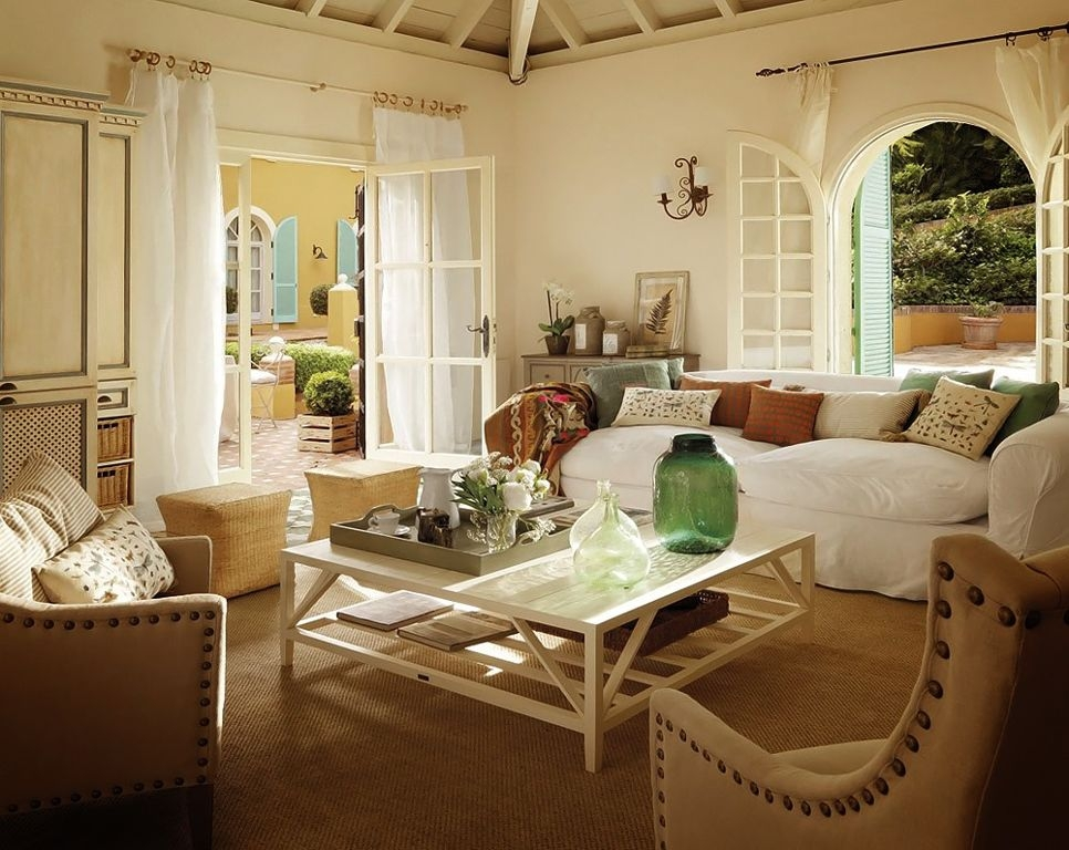 Impressive Top White Cottage Style Coffee Tables Throughout Living Room Country Cottage Style Living Room Ideas With (Image 31 of 50)