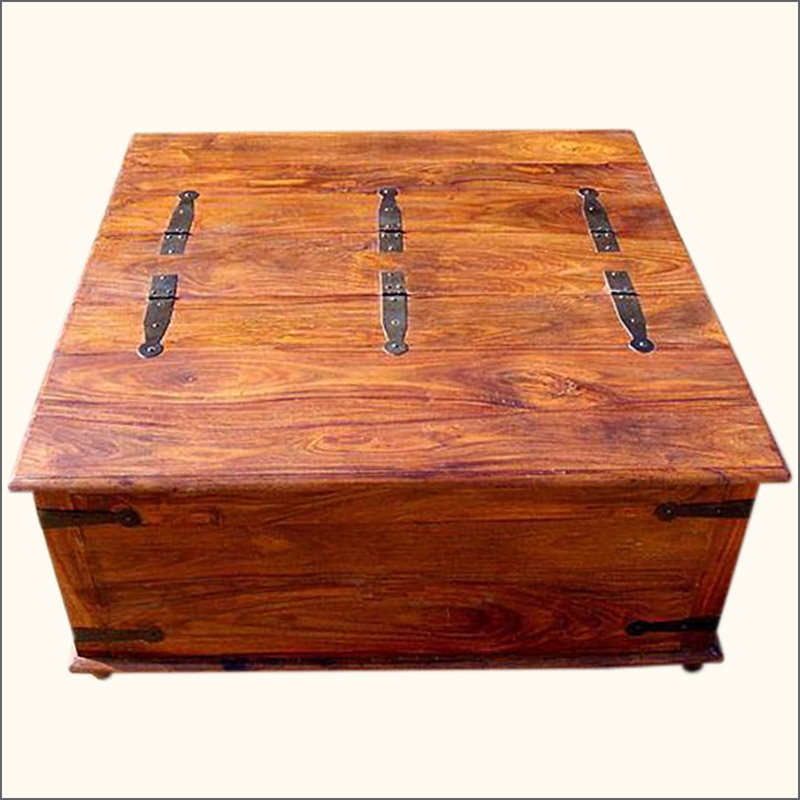 Impressive Top Wooden Trunks Coffee Tables Throughout Wooden Trunk Coffee Table (View 12 of 40)