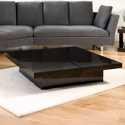 Impressive Trendy Big Black Coffee Tables Pertaining To Plain Black Coffee Table With Storage Drawers Decoration Ideas For (Image 27 of 50)