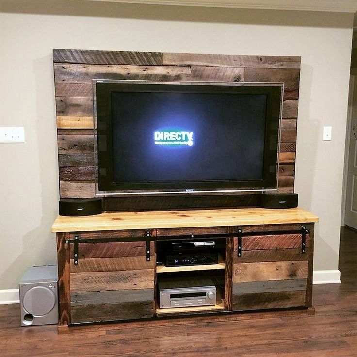 Impressive Trendy Cheap Rustic TV Stands Inside Best 25 Pallet Tv Stands Ideas Only On Pinterest Rustic Tv (View 39 of 50)