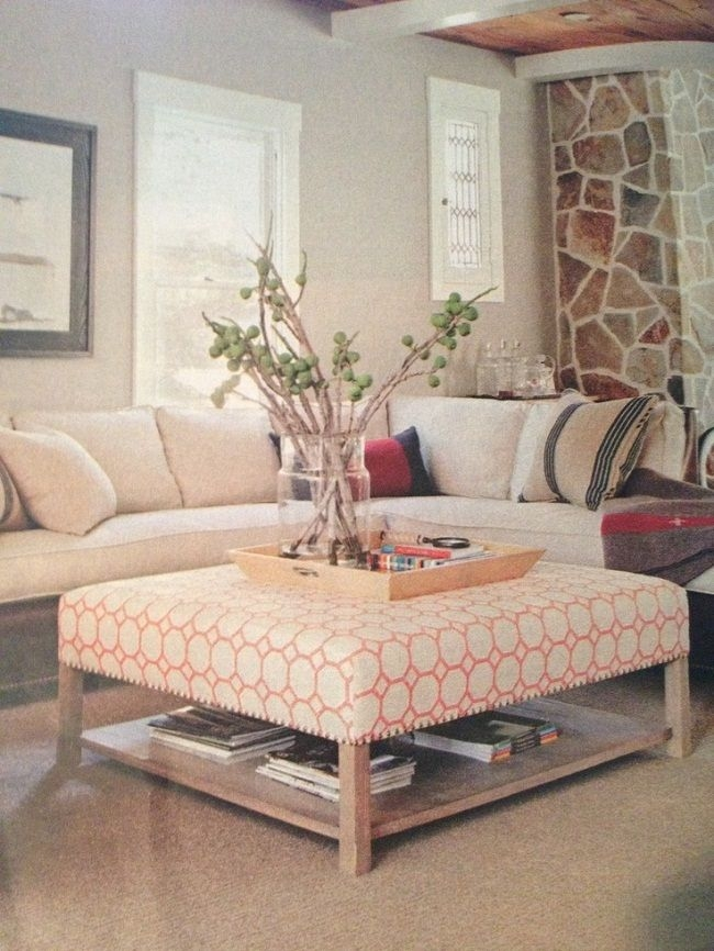 Impressive Trendy Fabric Coffee Tables Regarding Best 25 Upholstered Coffee Tables Ideas On Pinterest (View 3 of 50)