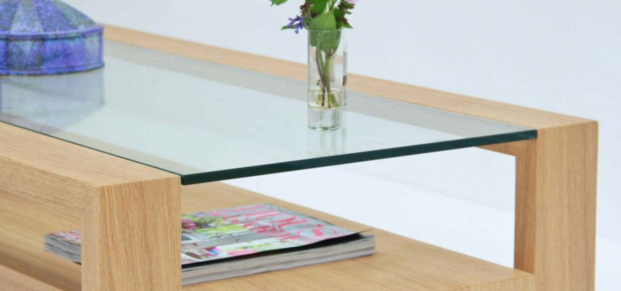Impressive Trendy Glass And Oak Coffee Tables Intended For Fold Coffee Table In Solid Oak Or Walnut (Image 31 of 50)