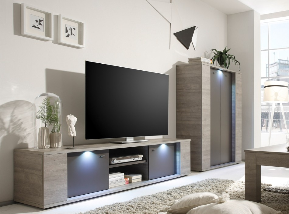 Impressive Trendy Glass Front TV Stands With Italian Tv Stand Sidney Small Lc Mobili Tv Stands Living Room (Image 27 of 50)