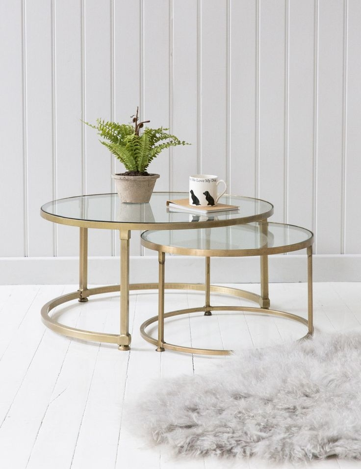 Impressive Trendy Glass Gold Coffee Tables Inside Round Gold Coffee Table (View 11 of 50)