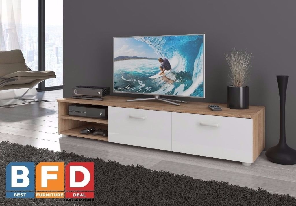 Impressive Trendy Modern Oak TV Stands Within Modern Tv Unit Cabinet 2 Meter Long 2 Door Tv Stand Board Plasma (View 31 of 50)