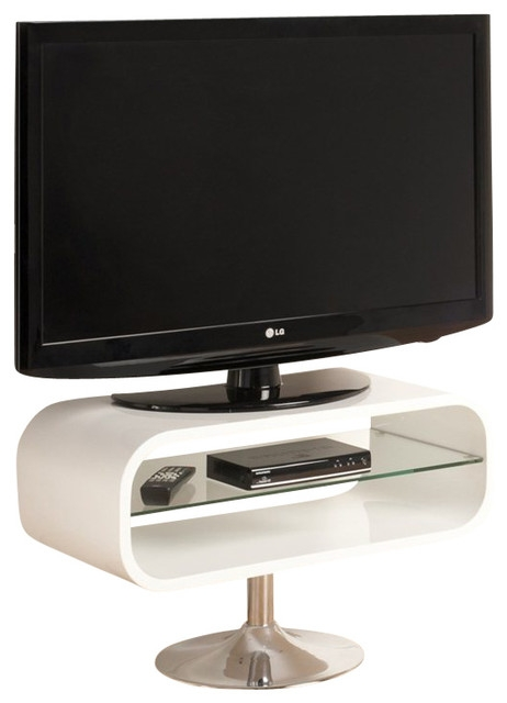 Impressive Trendy Opod TV Stands White Within Tech Link Opod Tv Stand Red With Chrome Base Entertainment (Image 29 of 50)