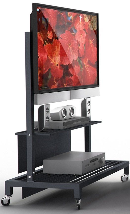 Impressive Trendy Small TV Stands On Wheels Regarding Tv Stands Marvelous Flat Panel Tv Cart 2017 Design Flat Panel Tv (Image 29 of 50)