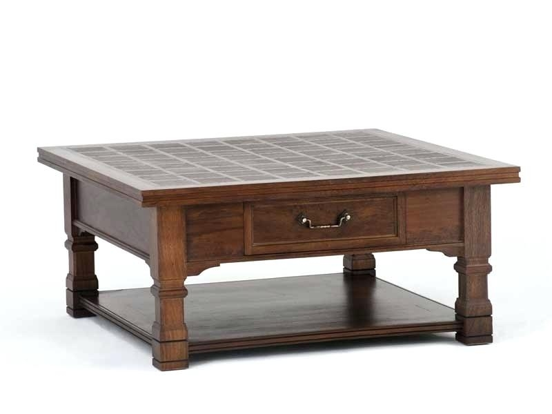 Impressive Trendy Square Coffee Tables With Storages Throughout Coffee Table Amish Arlington Square Coffee Tablecoffee Table (Image 26 of 50)