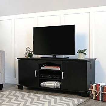 Impressive Trendy Storage TV Stands Throughout Amazon Walker Edison 60 Wood Storage Tv Stand Console Black (Image 29 of 50)