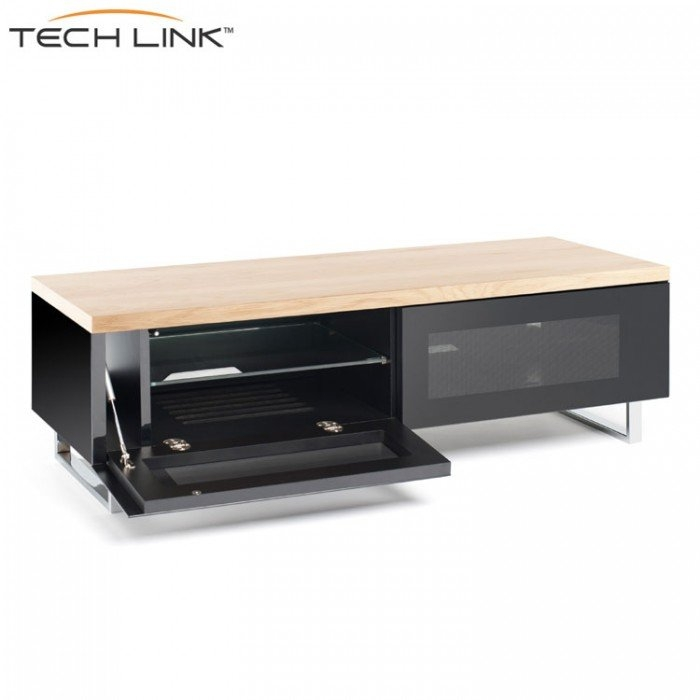 Impressive Trendy Techlink TV Stands Inside Techlink Pm120lo Panorama Piano Gloss Black And Light Oak Small Tv (Image 30 of 50)