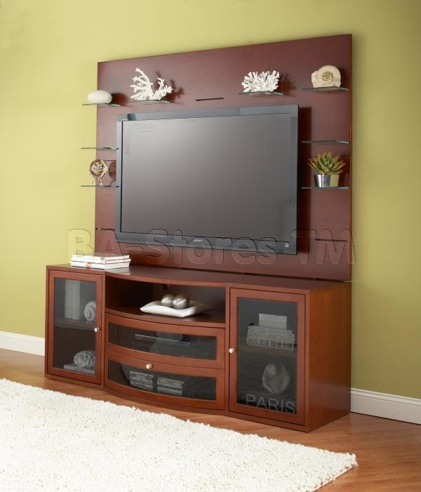 Impressive Trendy TV Stands With Back Panel Within 2000 Series Contemporary Tv Cabinet Wall Unit (View 17 of 50)