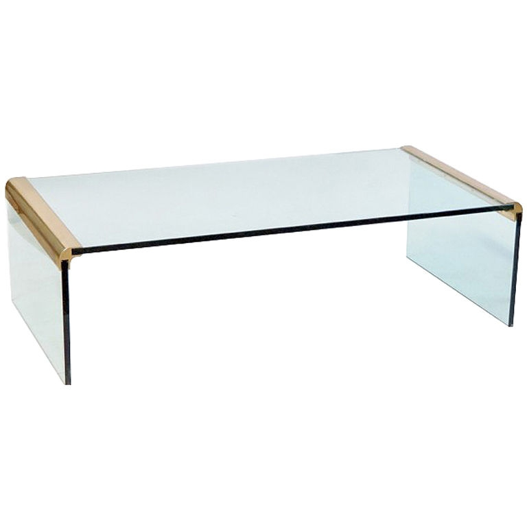Impressive Trendy Vintage Glass Coffee Tables In Glass And Brass Coffee Table (View 10 of 50)