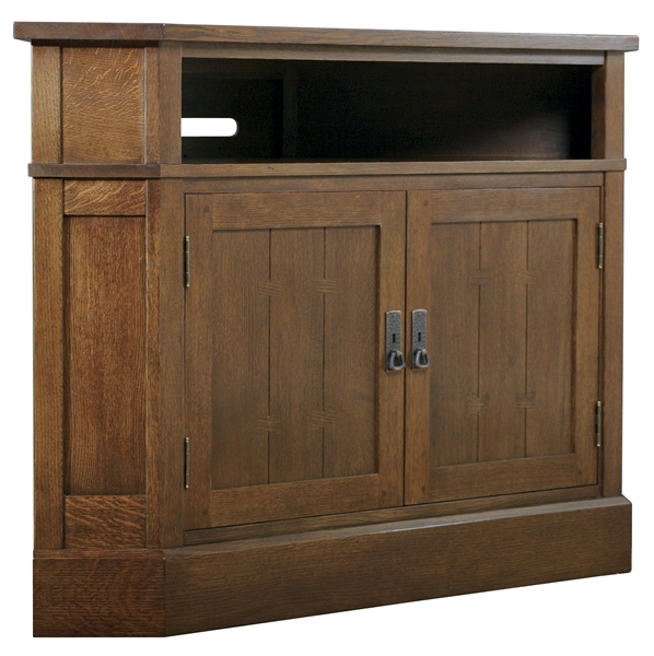 Impressive Trendy Wood Corner TV Cabinets Pertaining To Ourproductsdetails Stickley Furniture Since  (Image 25 of 50)