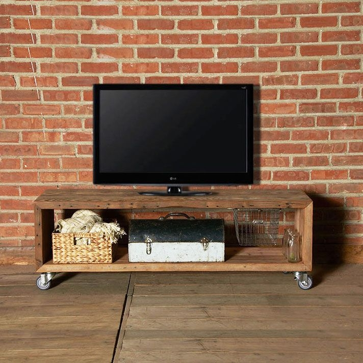 Impressive Trendy Wooden TV Stands With Wheels With Best 25 Rolling Tv Stand Ideas Only On Pinterest Tv Stand With (Image 32 of 50)