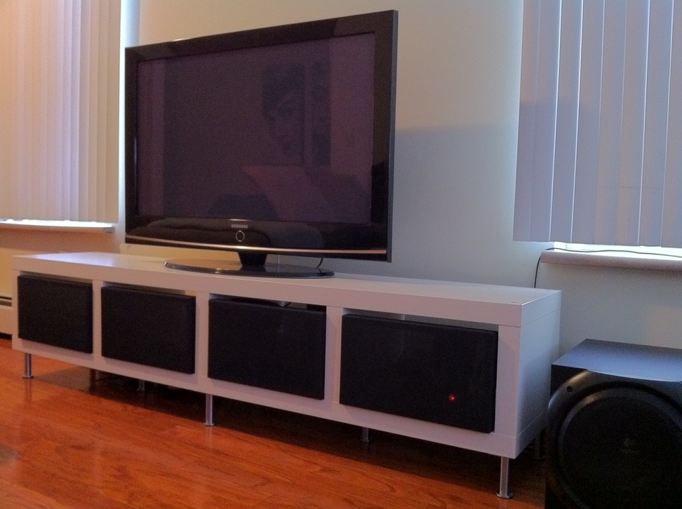 Impressive Unique Bench TV Stands Within Clean Minimalist Tv Stand Ikea Hackers Ikea Hackers (Image 31 of 50)