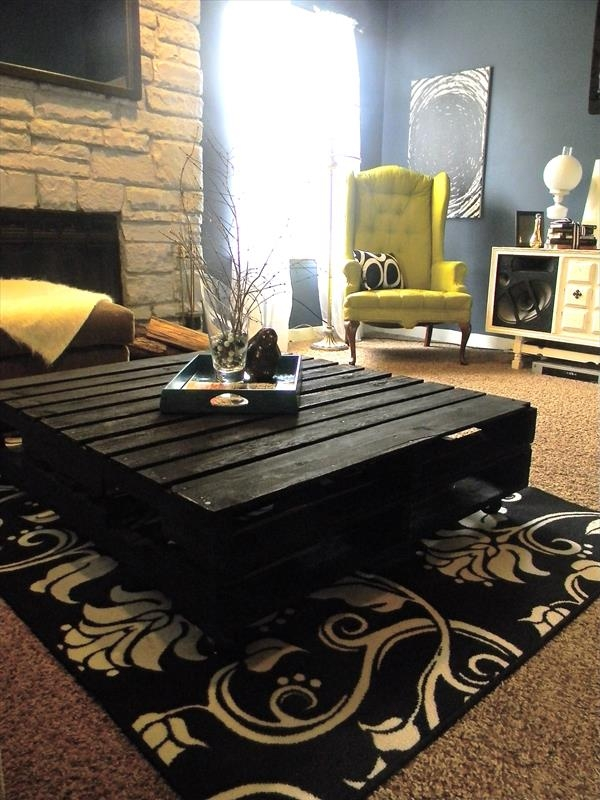 Impressive Unique Big Black Coffee Tables With Likable Pallet Coffee Table Ideas (Image 28 of 50)