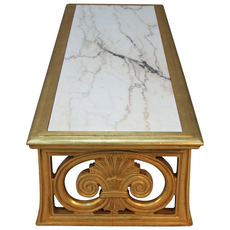 Impressive Unique Marble Coffee Tables Inside Gold Gilt And Marble Coffee Table Neoclassical Style For Sale At (View 33 of 50)