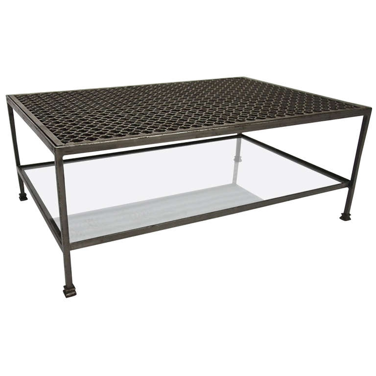 Impressive Unique Metal And Glass Coffee Tables Pertaining To Living Room The Most Marvelous Rustic Metal Coffee Table Modern (View 15 of 50)