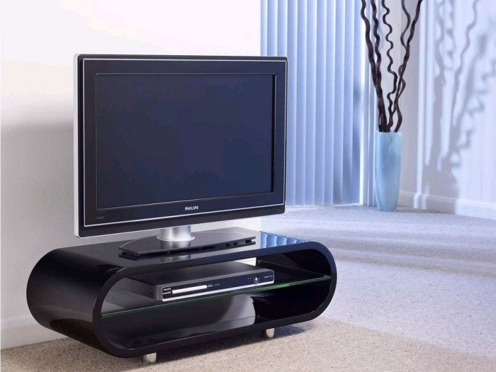 Impressive Unique Shiny Black TV Stands Within Techlink Ovid Ov95b Gloss Black Tv Stand  (Image 30 of 50)