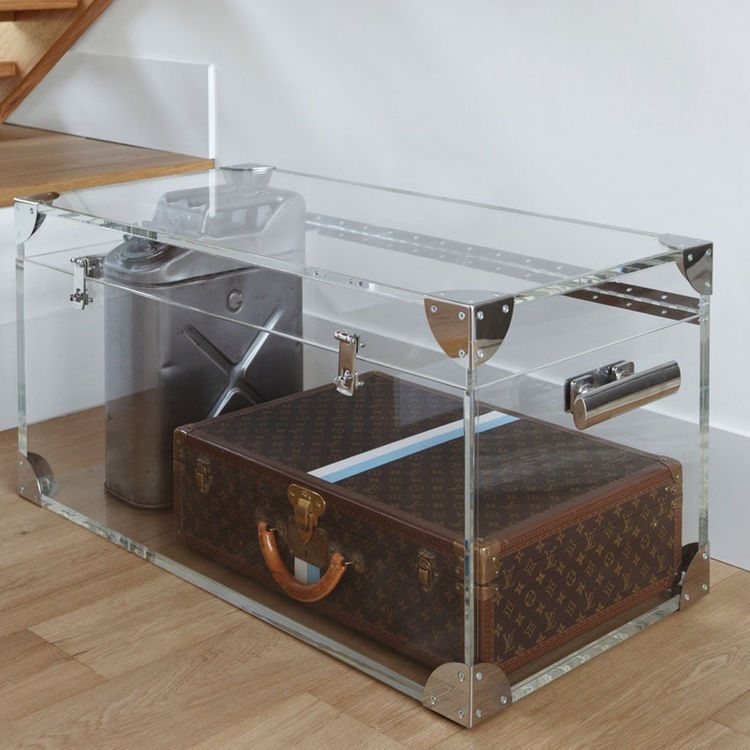 Impressive Unique Silver Trunk Coffee Tables Throughout Trunk Coffee Tables Uk And Leather Trunk Coffee Table Home Living (Image 23 of 40)
