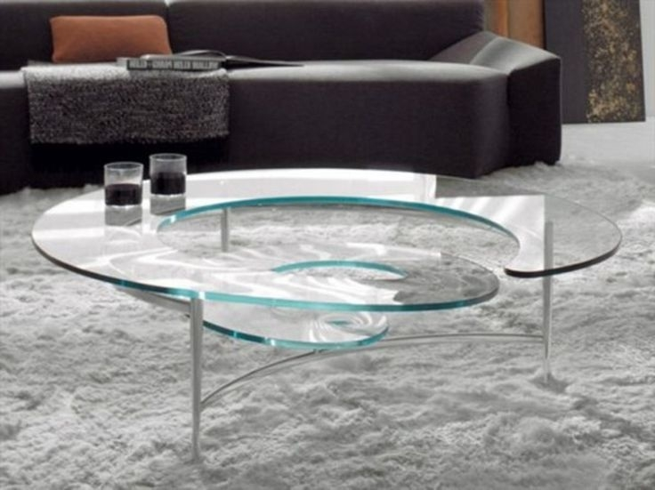 Impressive Unique Spiral Glass Coffee Table Inside Elegant Spiral Glass Coffee Table Legs Cars Zone (View 12 of 50)