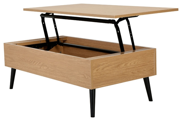Impressive Unique Top Lifting Coffee Tables Regarding Caleb Brown Wood Lift Top Storage Coffee Table Midcentury (Image 29 of 48)