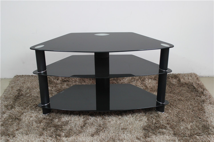 Impressive Unique Triangle TV Stands For Modern Chroem Metal Leg Glass Triangle Tv Stand Buy Triangle Tv (Image 26 of 50)