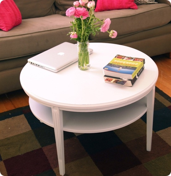 Impressive Unique White Circle Coffee Tables Intended For Beautiful White Round Coffee Table (Image 27 of 50)