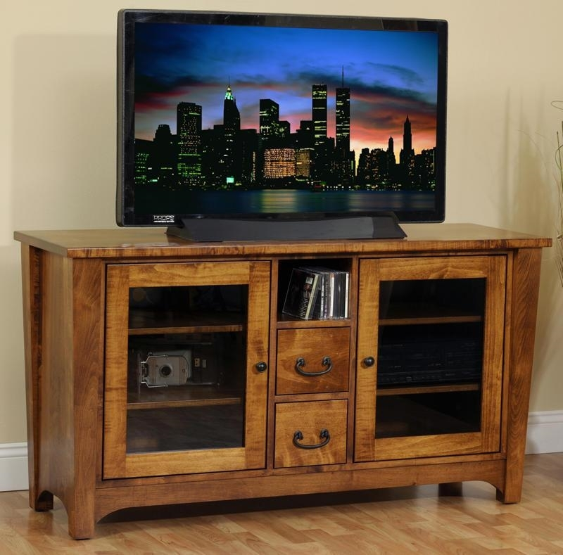 Impressive Unique Wooden TV Stands With Doors In Amish Made Tv Stands From Dutchcrafters Amish Furniture (Photo 16 of 50)