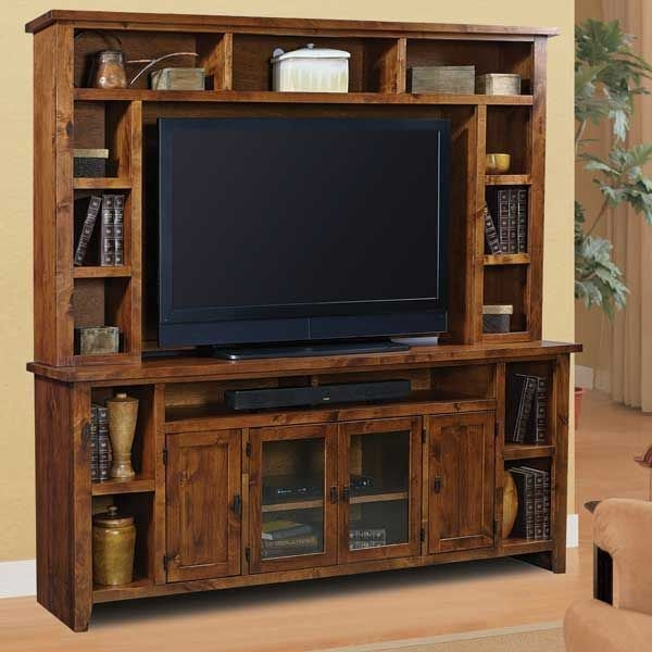 Impressive Variety Of 84 Inch TV Stands Inside 84 Inch Alder Grove Tv Console And Hutch Dg1036 Set Aspen Home Afw (Image 29 of 50)