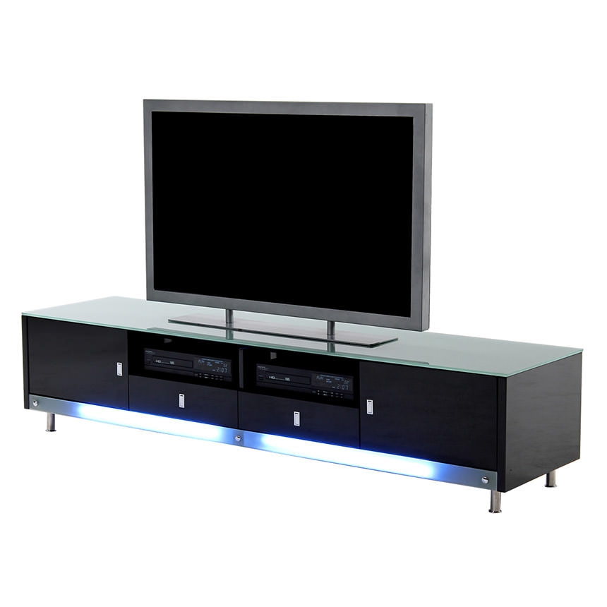 Impressive Variety Of Illuminated TV Stands Within Dario Black Illuminated Tv Stand El Dorado Furniture (Image 32 of 50)