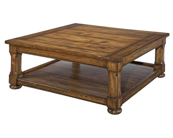 Impressive Variety Of Low Square Wooden Coffee Tables  In Living Room The Most Reclaimed Fishing Boat Wood Square Coffee (Image 27 of 50)