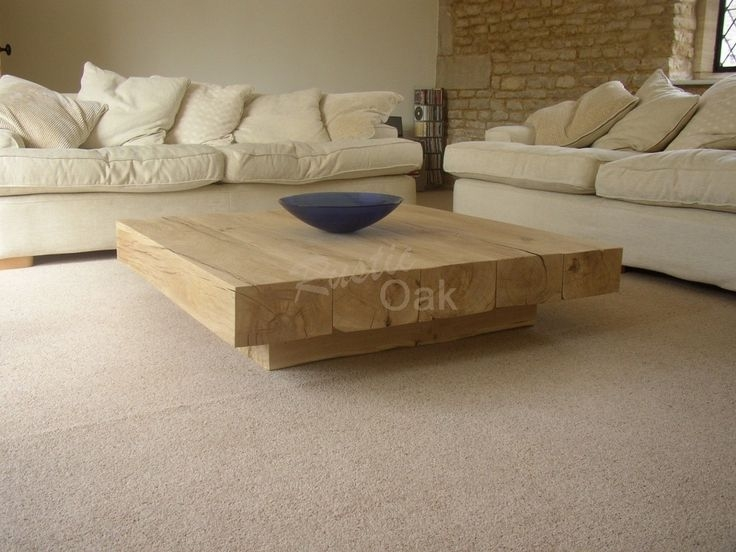 Impressive Variety Of Oak Square Coffee Tables Intended For Best 25 Solid Wood Coffee Table Ideas Only On Pinterest (View 50 of 50)
