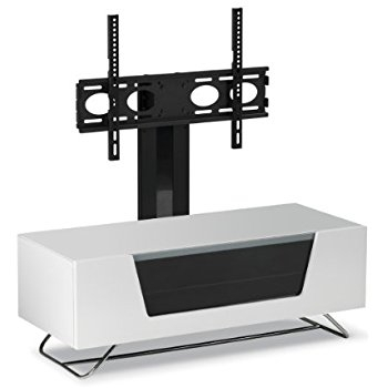 Impressive Variety Of White Cantilever TV Stands With Alphason Chromium White Cantilever Tv Stand Amazoncouk Electronics (Image 28 of 50)