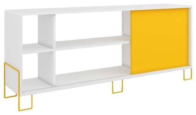 Impressive Variety Of Yellow TV Stands For Accentuations Nacka Tv Stand 20 With 4 Shelves Sliding Door (View 40 of 50)