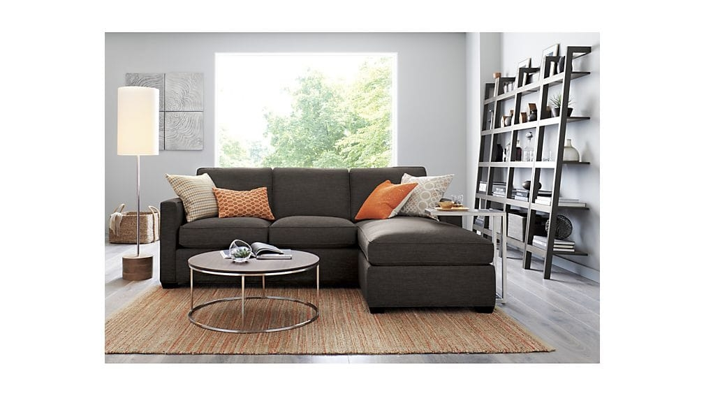 Impressive Well Known C Coffee Tables Regarding Era Stainless Steel C Table Crate And Barrel (Image 31 of 50)
