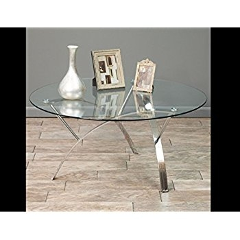 Impressive Wellknown Circular Glass Coffee Tables In Amazon Stylish Round Glass Top Coffee Table Contemporary (Image 26 of 50)