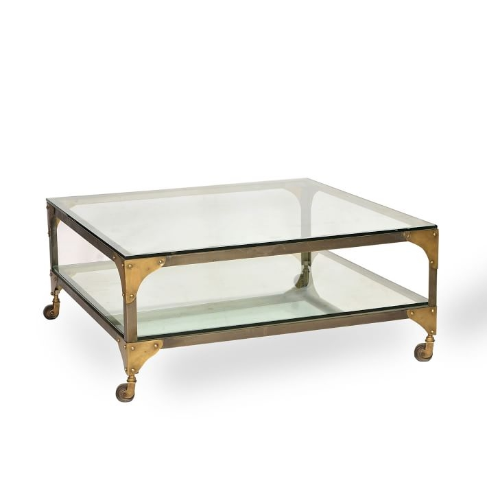 Impressive Wellknown Coffee Tables Glass And Metal Regarding Glass Metal Coffee Table West Elm (Image 29 of 50)