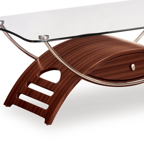 Impressive Wellknown Coffee Tables With Chrome Legs Within Global T63 2 Piece Glass Coffee Table Set In Mahogany W Chrome (Image 33 of 50)