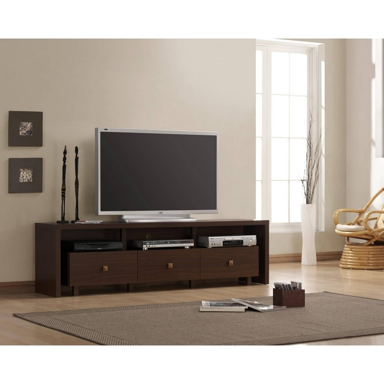 Impressive Well Known Dark Walnut TV Stands Regarding Dark Oak Tv Stand (Image 31 of 50)
